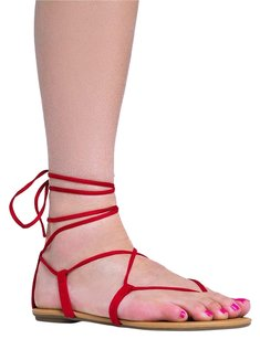 City Classified Red Sandals