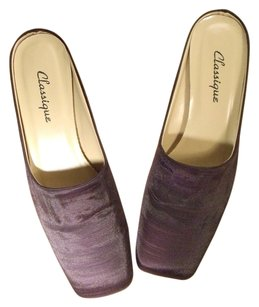 Classique Mule Smoking Slipper Faille Plum Mules