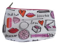 Clinique Clinique Lips Eye Makeup Print Waterproof Cosmetic Bag Makeup Purse