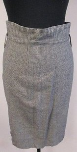 Club Monaco Black White Houndstooth Wool Blend Lined Pencil U268 Skirt Multi-Color