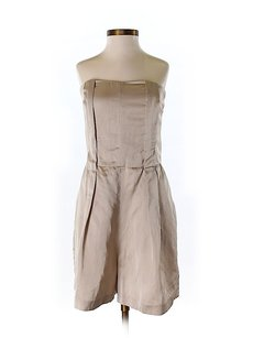 Club Monaco Strapless Khaki Dress