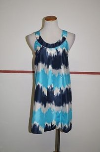 Club Monaco short dress Blue Tie Dye on Tradesy