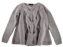 Co Cashmere Gray Hand Nm Sweater