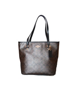 Coach 100% Tote in Brown/Black