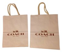 Coach 2 New coach paper shopping bag