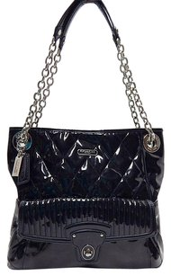 Coach 18673 Poppy Quilted Tote in Black
