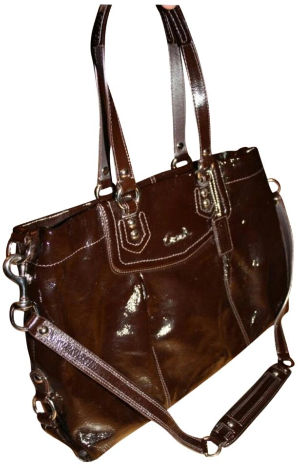 f208edffbfe get coach ashley carryall patent leather patent leather shoulder bag b4d22  9dd31