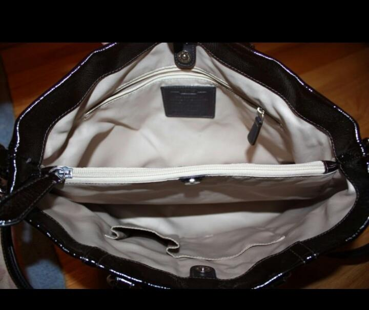 3a846c81cc ... promo code for coach ashley carryall mahogany brown patent leather  shoulder bag tradesy 916b4 d339f