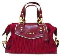 Coach Boudreaux Satin And Leather Mint Reduced Satchel in Burgundy