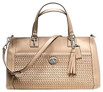 Coach Carryall Leather Tote in Beige