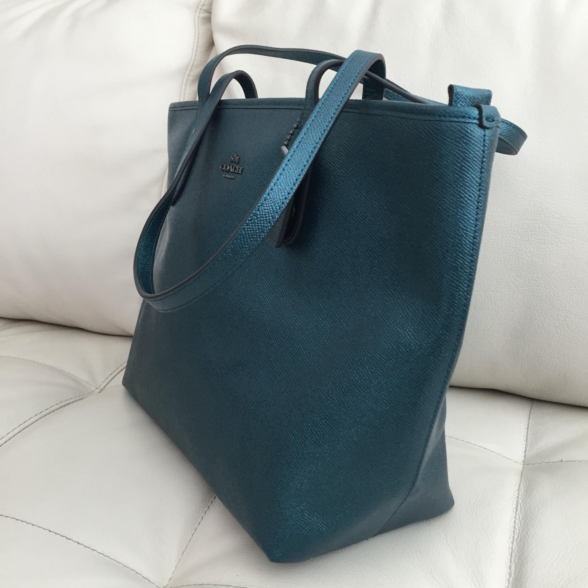 1ff7cfc7fe ... norway coach tote in dark teal. 12345678910 771dc 88841