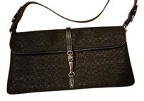 Coach metallic black Clutch