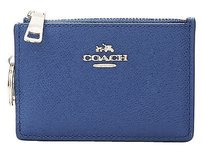 Coach Coach 52394 Denim Crossgrain Textured Leather Mini Skinny Wallet