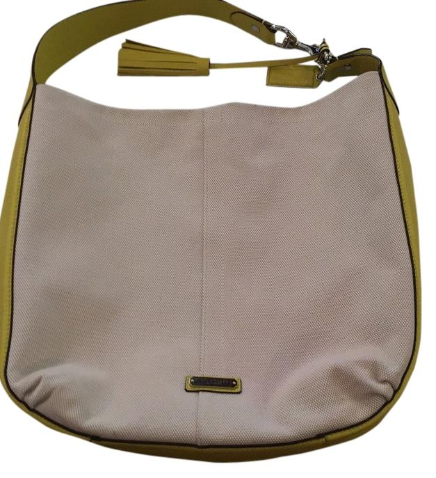 0402b8c49d82 ... coupon for coach cream yellow leather linen hobo bag tradesy cec4c dd4fb