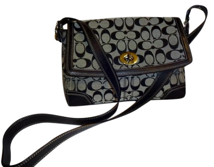 black and gray coach bag 7o03  Coach Cross Body Bag