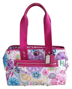 Coach Daisy Flower Pockets Nylon Tote in Multi pinks