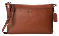 Coach East West Saddle Leather Cross Body Bag