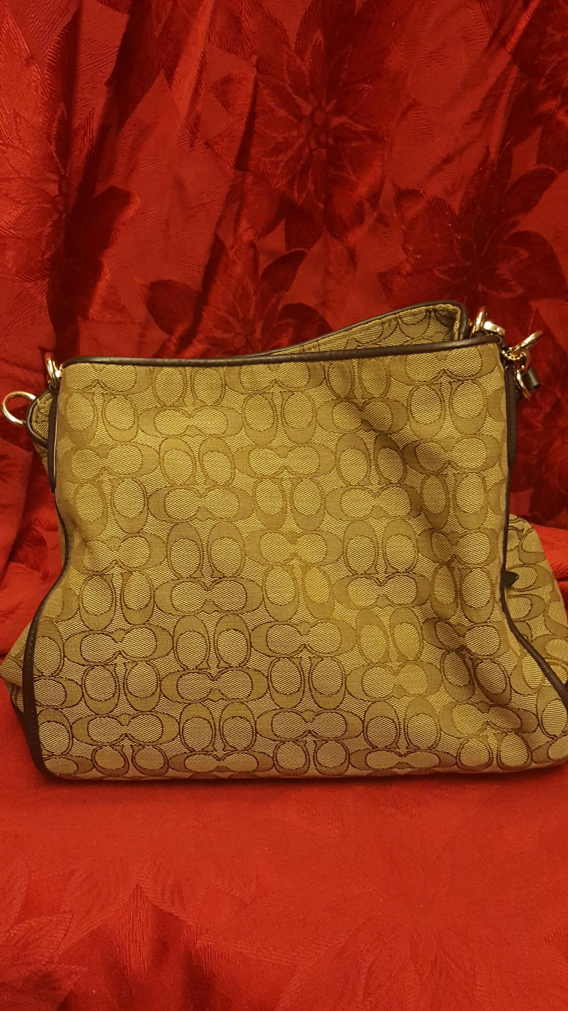 f90c22dbd949 ... wholesale coach edie brown jacquard canvas leather shoulder bag tradesy  31d7f 81636 ...
