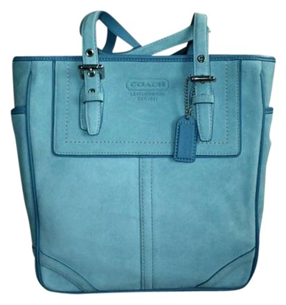 Preload https://item5.tradesy.com/images/coach-finest-summer-lunch-gallery-blue-suede-leather-tote-400289-0-0.jpg?width=440&height=440