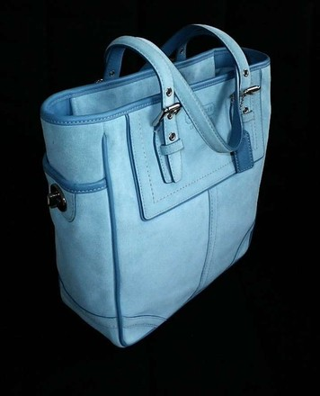 Coach Dooney Bourke Louis Vuitton Channel Vintage Rare Tote in Blue