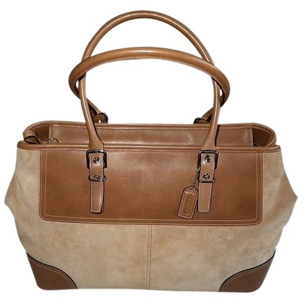 Preload https://item5.tradesy.com/images/coach-hamptons-xl-carryall-business-travel-tote-camel-tan-suede-leather-satchel-512594-0-0.jpg?width=440&height=440