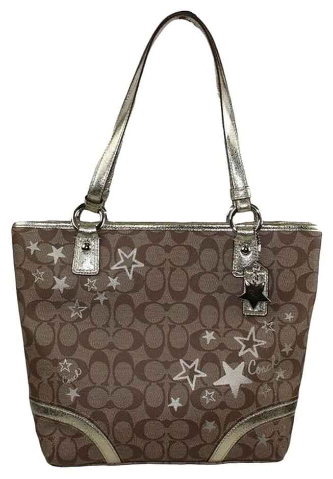 11d64ff279e italy dark brown signature coach purse 5b2f1 fde90