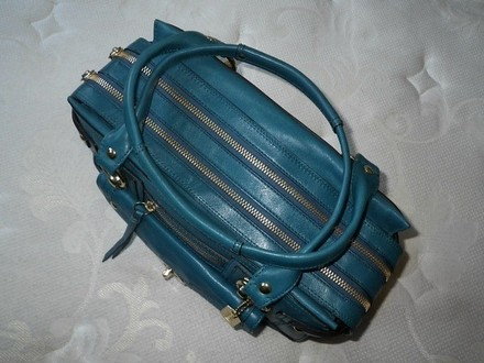 Coach Hermes Channel Gucci Louis Vuitton Vintage Tote in Blue