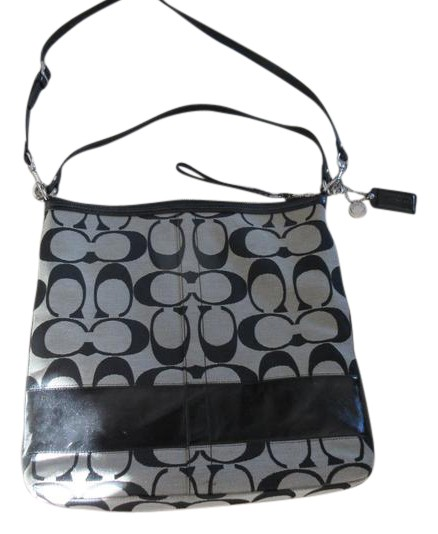 coach gray purse thil  Coach Leather Signature Tote Cross Body Bag