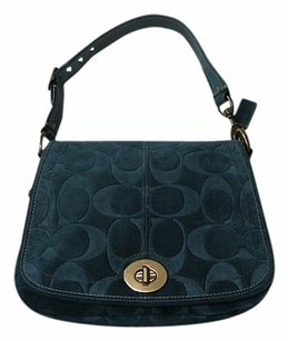 Coach Louis Vuitton Dooney Bourke Gucci Channel Rare Vintage Tote in Blue