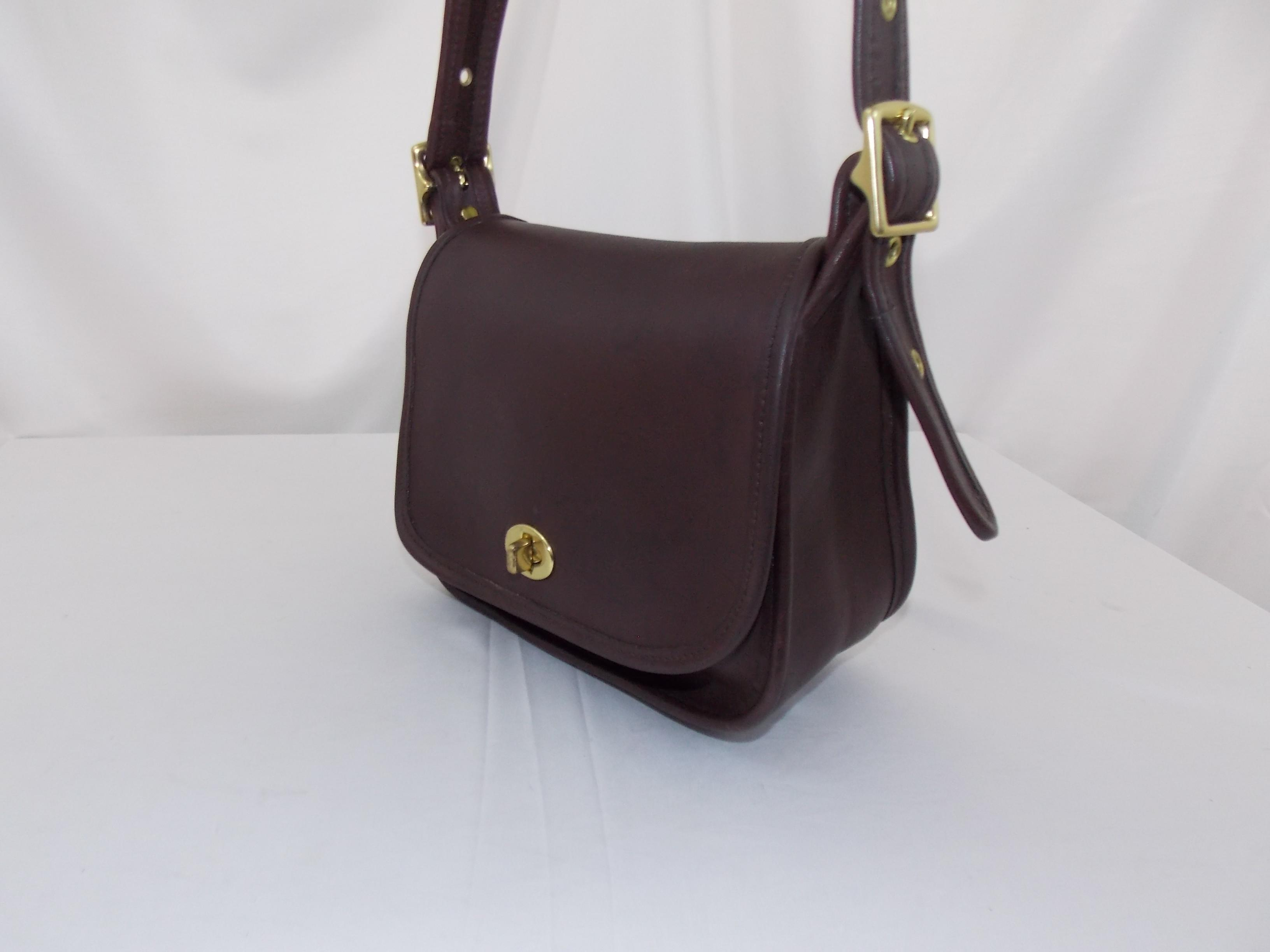 e33797a3d50d ... czech coach legacy trail bagk7d 9965brassmahogany new never used  condition rare mahogany leather shoulder bag tradesy