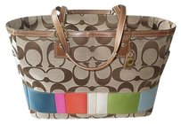 Coach Louis Vuitton Dooney Gucci Channel Rare Vintage Multicolored, Khaki Diaper Bag