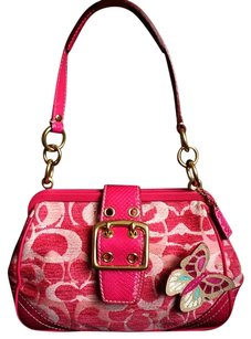Coach Louis Vuitton Dooney Channel Rare Vintage Satchel in Pink