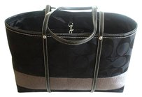Coach Louis Vuitton Dooney Bourke Gucci Channel Rare Vintage Tote in Black, Gunmetal