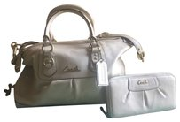 Coach Madison Satchel in Beige and Gold