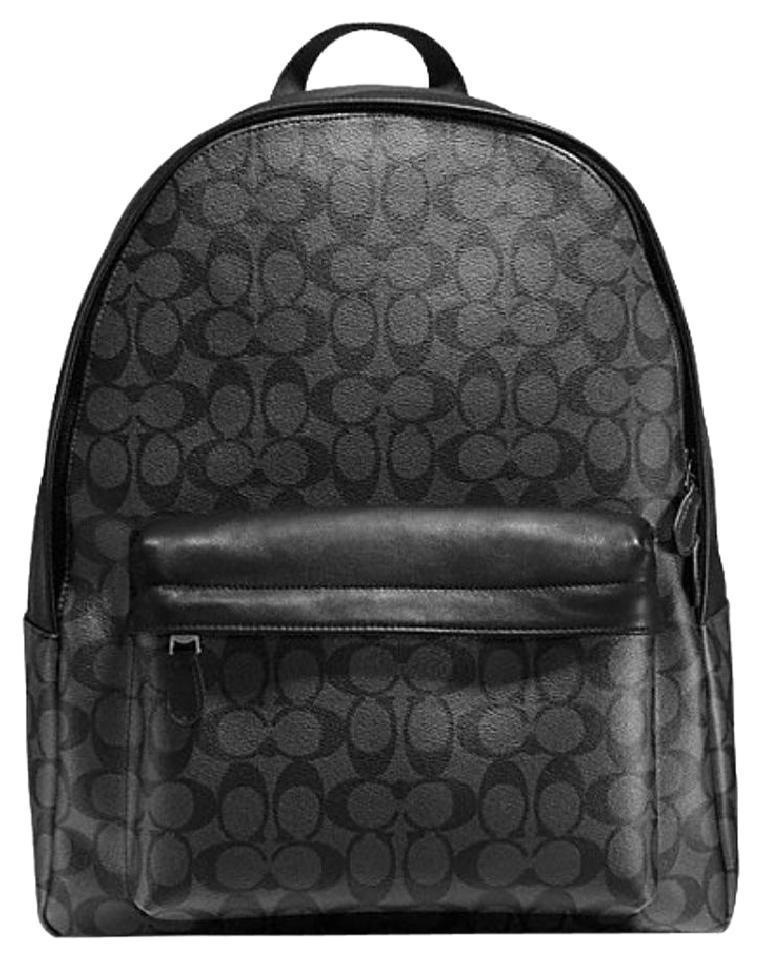 coach black and gray purse vlf2  Coach Mens Campus Mens Backpack