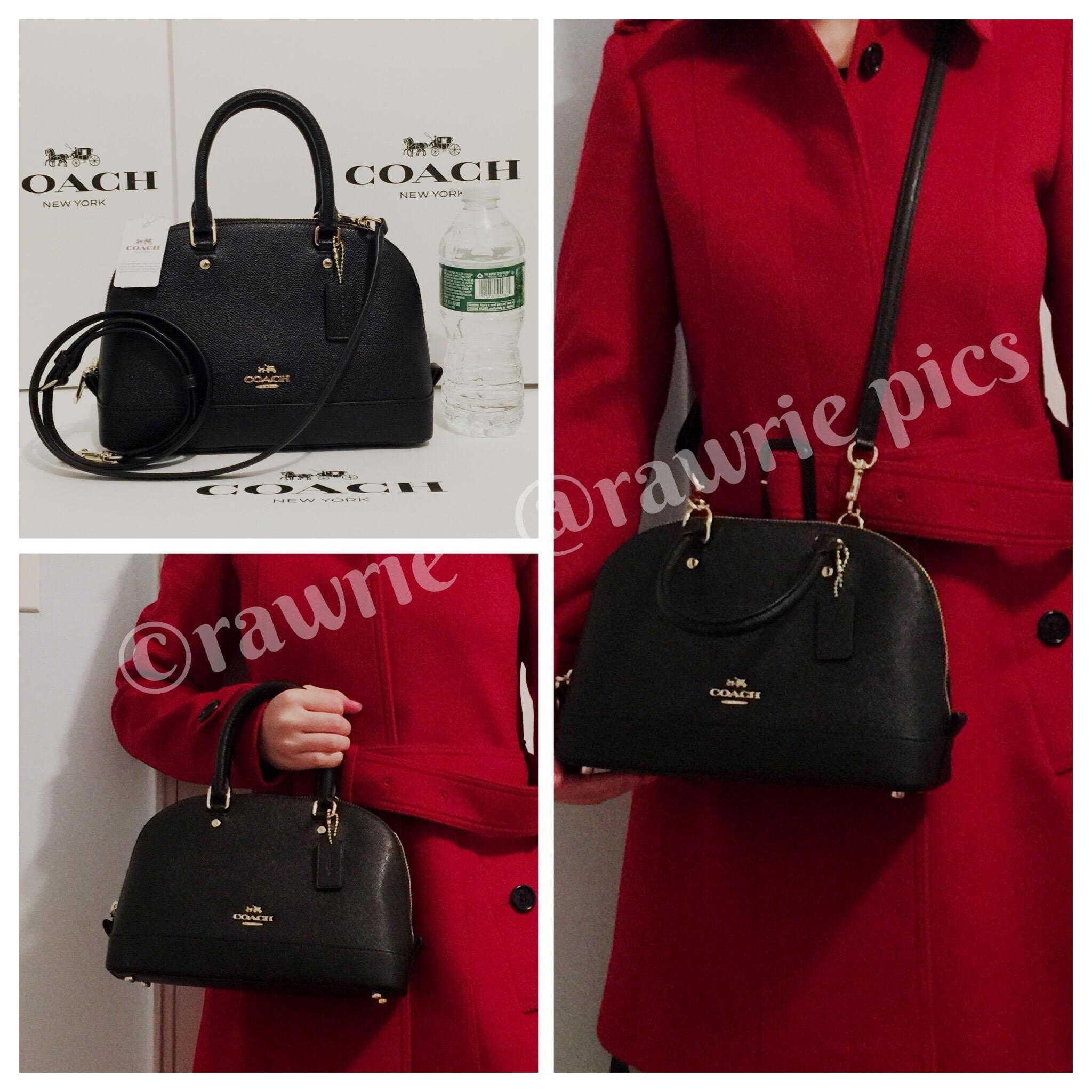 fba716ae7a828 ... coupon code for coach sierra mini domed satchel and wristlet set black  leather cross body bag