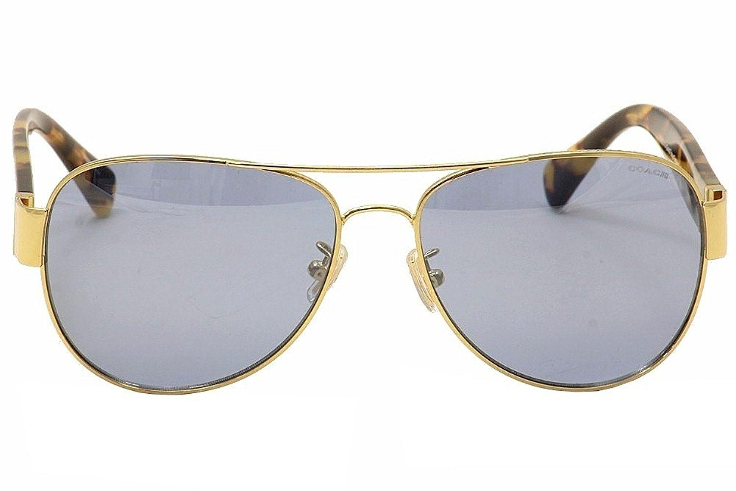 f9d107579a96 ... germany coach new coach hc 7059 92001u womens gold tortoise mirrored  lens sunglasses. 123456 a07c2