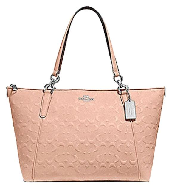 61ed3e469f ... coupon for coach tote in pink 28f09 778c4 low cost price down coach  womens bags handbags embossed leather coach taxi zip tote light ...