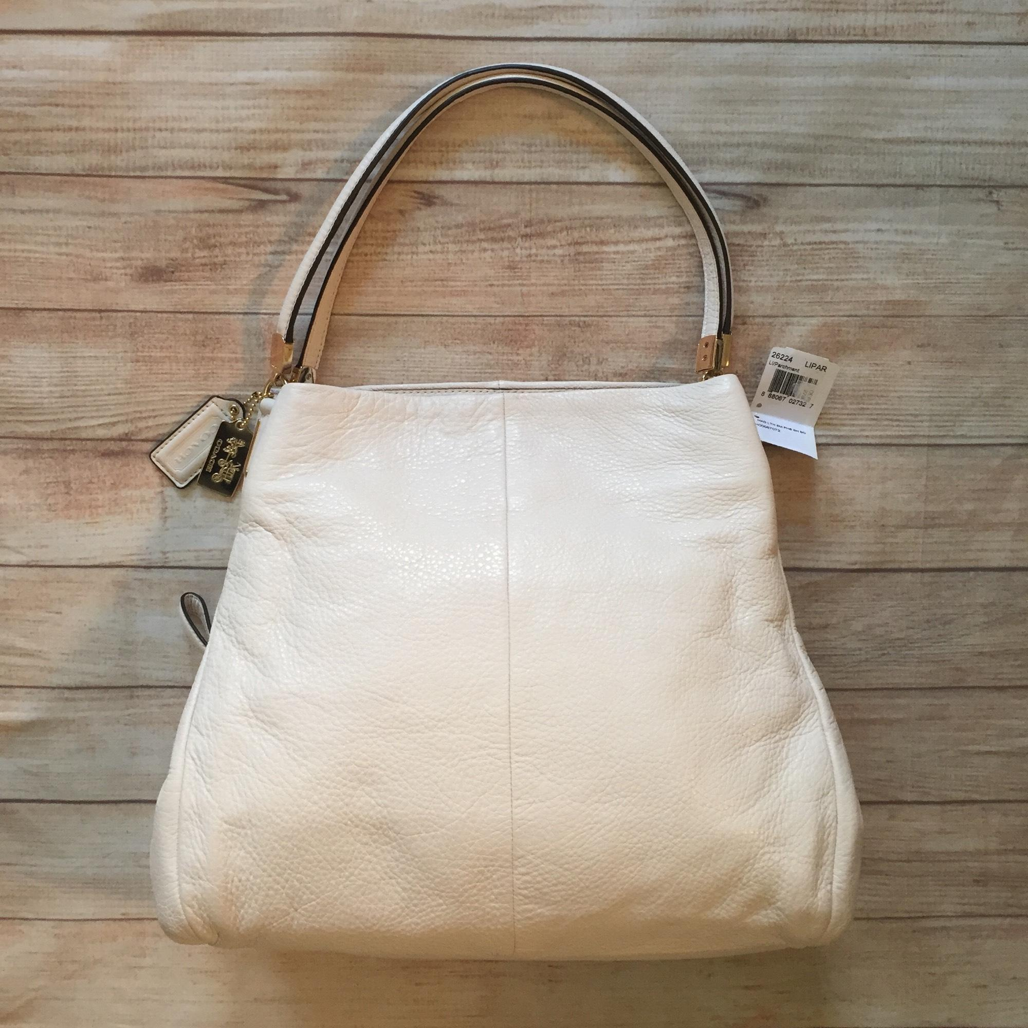 ... ivory leather shoulder bag tradesy bff44 c9fa5 uk coach bag 26224  madison small phoebe shoulder bag in leather pink orchard luxury brands  online ... e33a043558