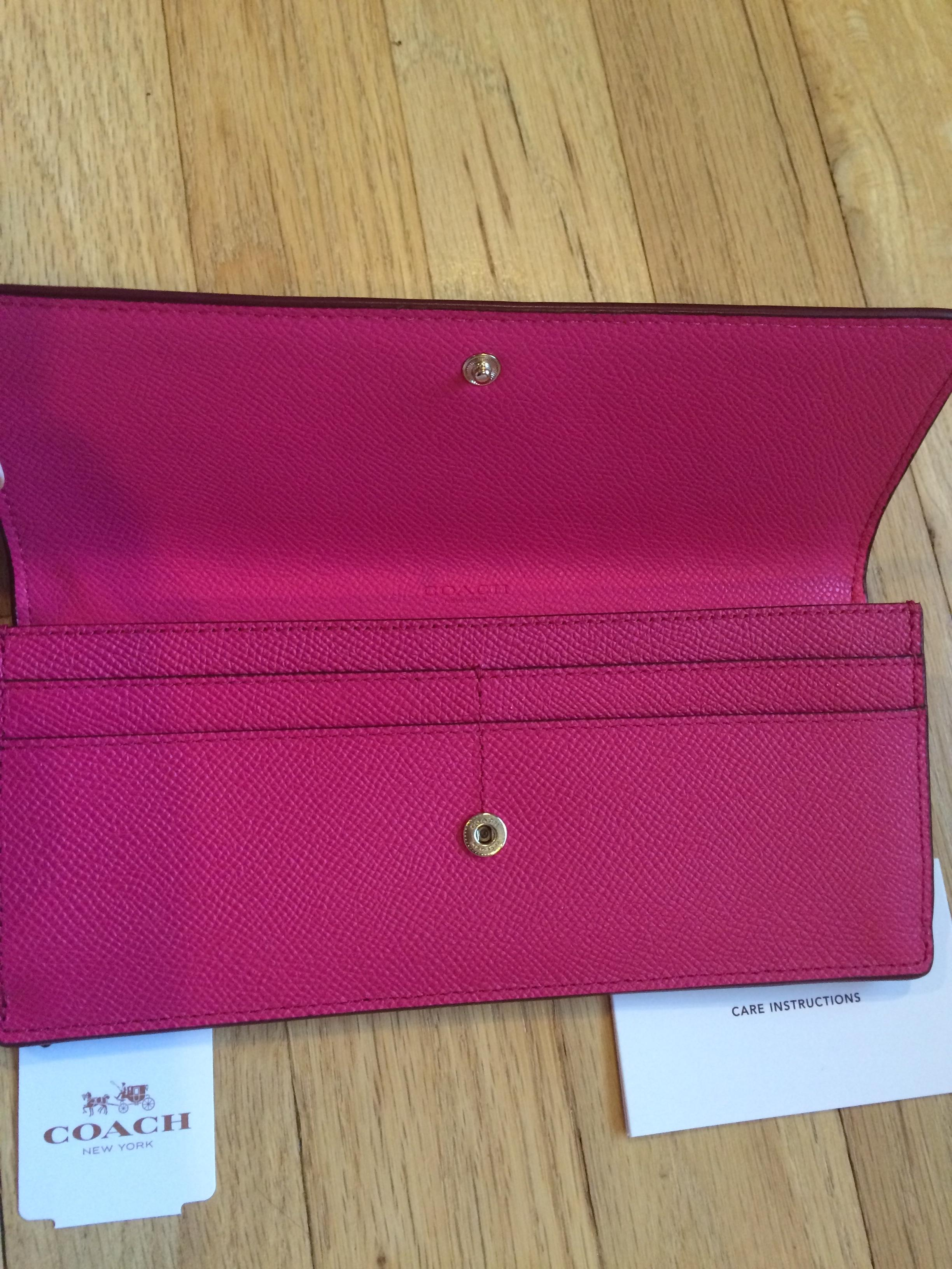 6bc7a44e0ed5 ... ireland coach pink ruby ruby stunning soft in wallet 65084 a0ffb