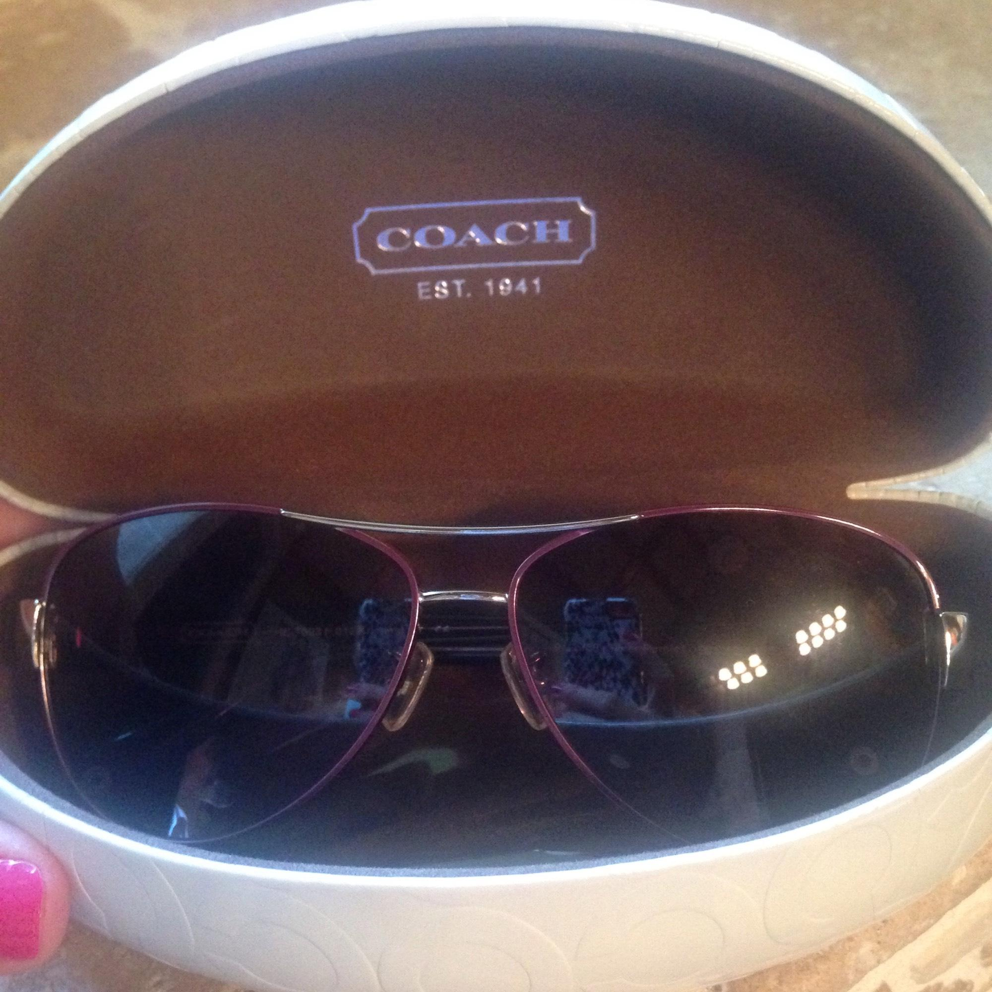 ae06ee19db2 ... where to buy coach purple kristina sunglasses tradesy d3c5e 7a5b7