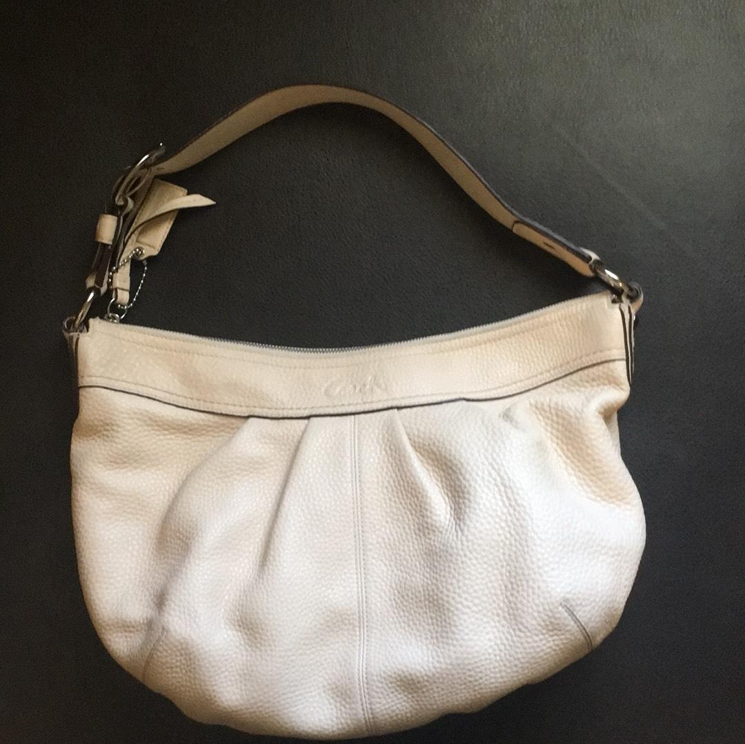 992686e4e573 ... coupon code for coach purse cream leather hobo bag tradesy 393c3 75d08