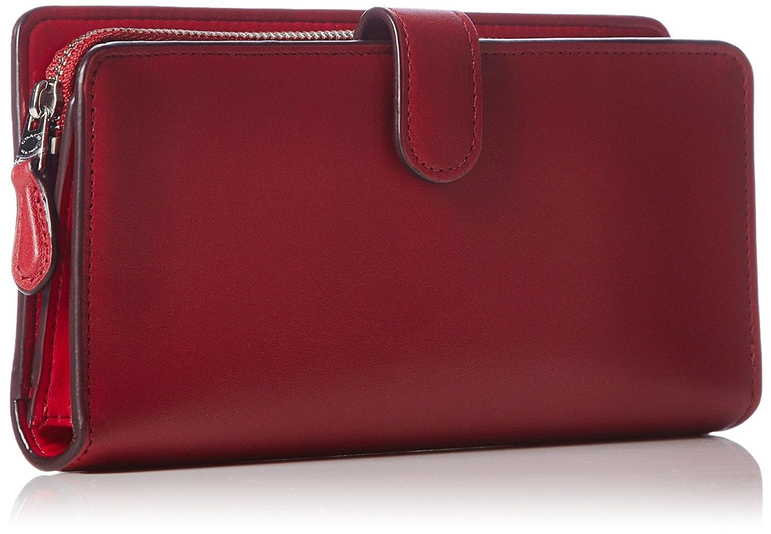 0360c86fe0d84 ... order coach coach madison skinny red currant leather wallet clutch.  12345 accbf bd5f7