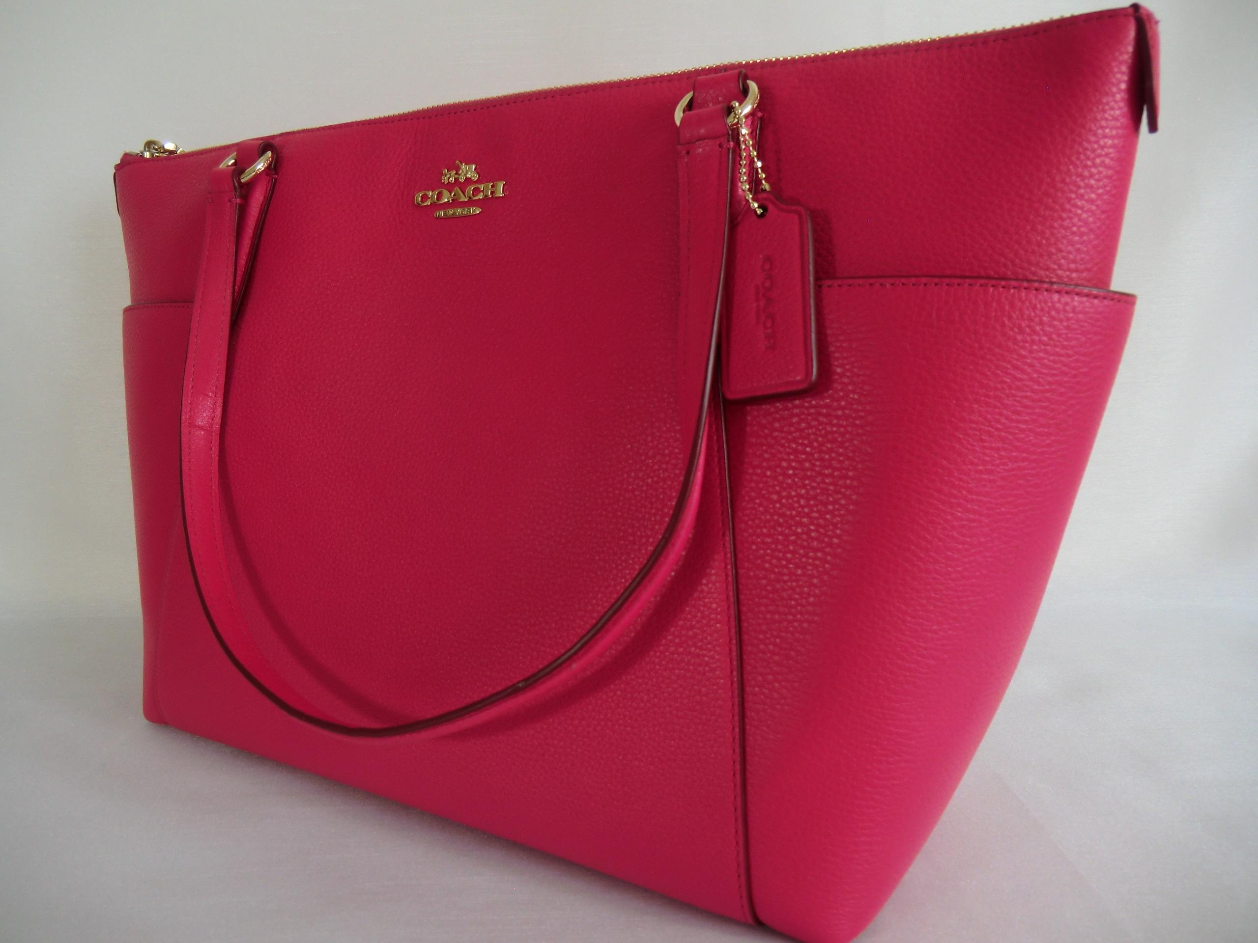 6842a13a9037 ... pink ruby ava ii purse.new 091c8 69905 clearance coach large ava f37216  tote shoulder bag.