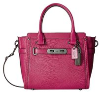 Coach 37444 Cerise Pebbled Satchel in Pink