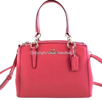 Coach Leather Crossgrain Mini Christie 57265 Satchel in Pink