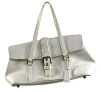 Coach No Womens Leather Satchel in White