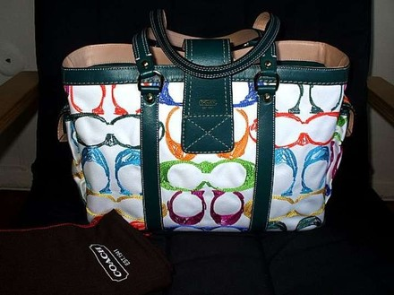 Coach Gucci Louis Vuitton Rare Satchel in Multi-Color