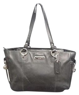 Coach Silver Hardware Two Strap Leather B3552 Shoulder Bag