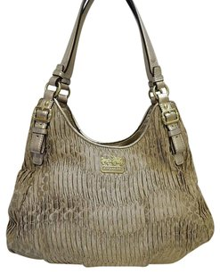 Coach 18886 Madison Gathered Maggie Leather Shoulder Bag